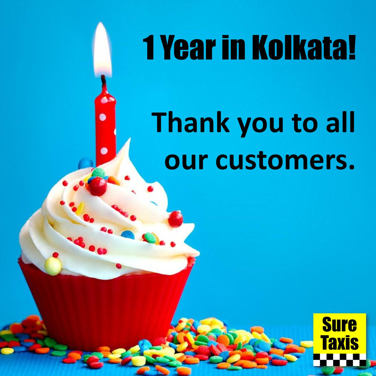 Today, a year ago, we sent our first taxi in Kolkata. Thank you to all our customers for making it possible. http://t.co/qJIaISmm1X