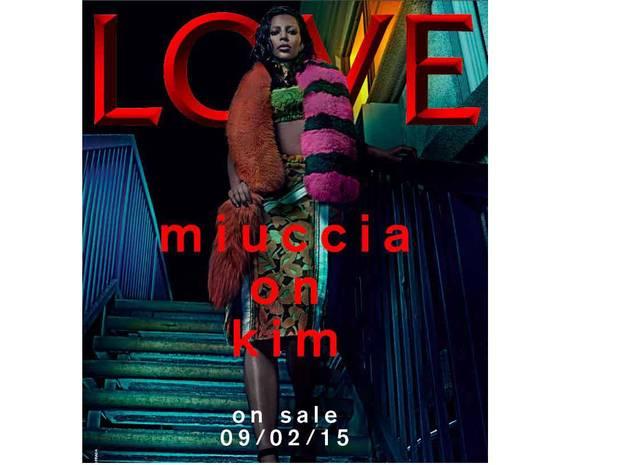 Novas fotos Kim Kardashian na Love Magazine