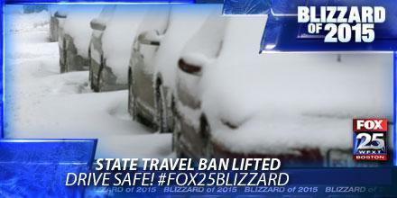 State travel ban has been lifted - http://t.co/tjkjwYvgn4 #fox25blizzard #blizzardof2015 http://t.co/eZ7tZoy9Yb