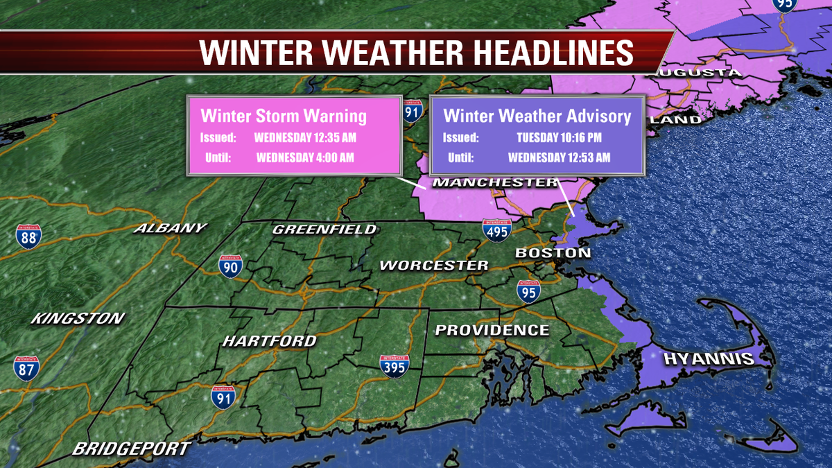 Winter Weather Headlines in our area have just been issued/modified...  See if your town is impacted #fox25 http://t.co/dM4dhT7v4q