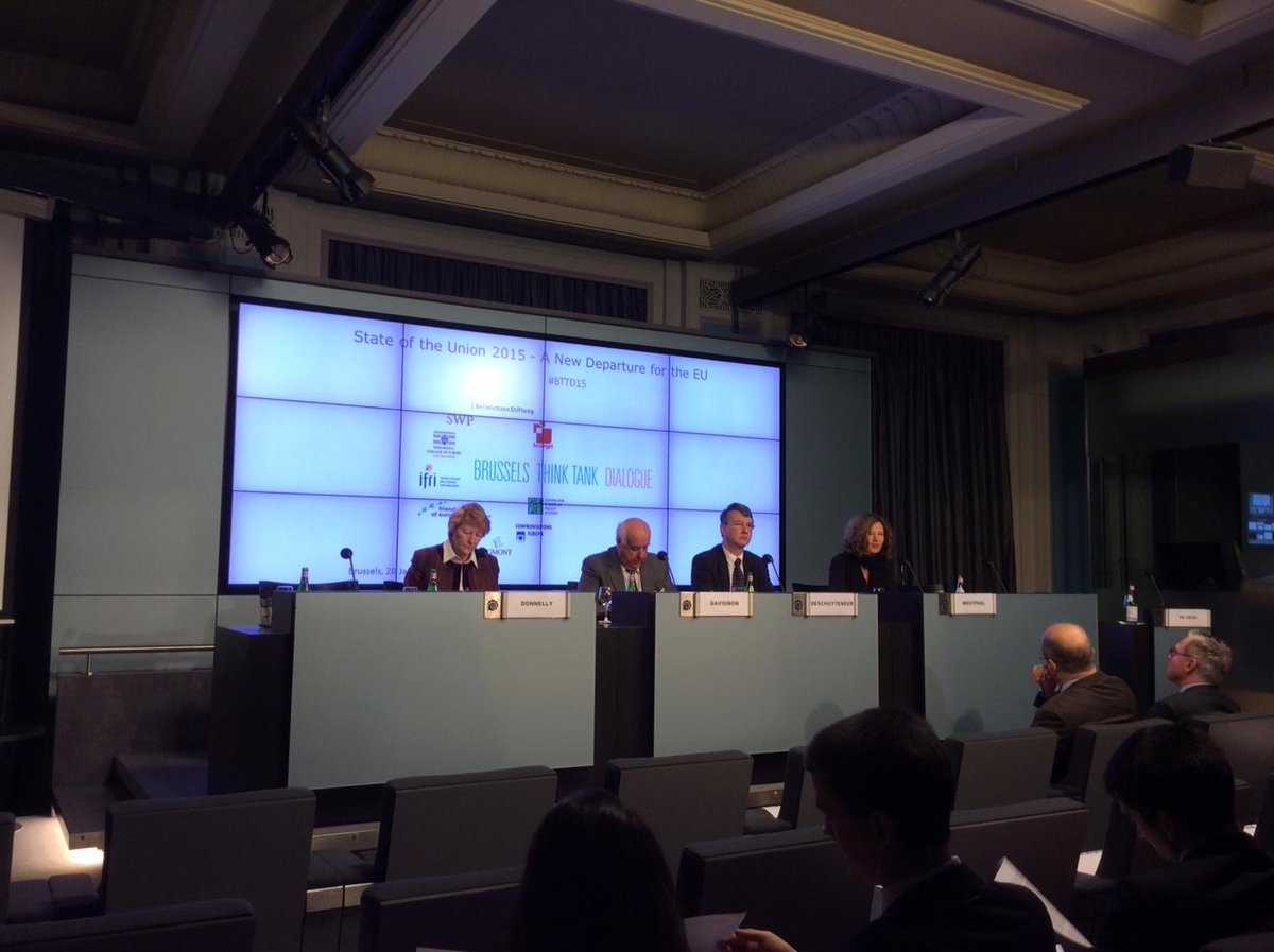 The first #BTTD15 panel on energy security: Donnelly, Davignon, Deschuyteneer & Westphal (jn) http://t.co/VW4nbXhzdQ
