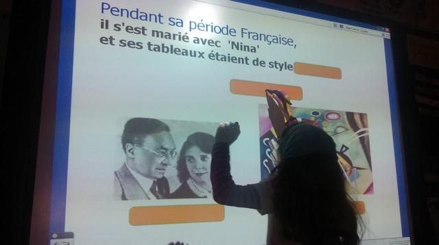 """""""@cticech2: #forumatice #EcoleNumerique Ecole Joliot Curie Charleville, le TBI en histoire des arts au CE2. http://t.co/HnCojA1XPM"""""""