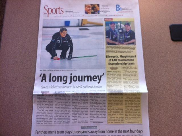 A long journey – Susan McInnis at the Scotties, in today's Journal