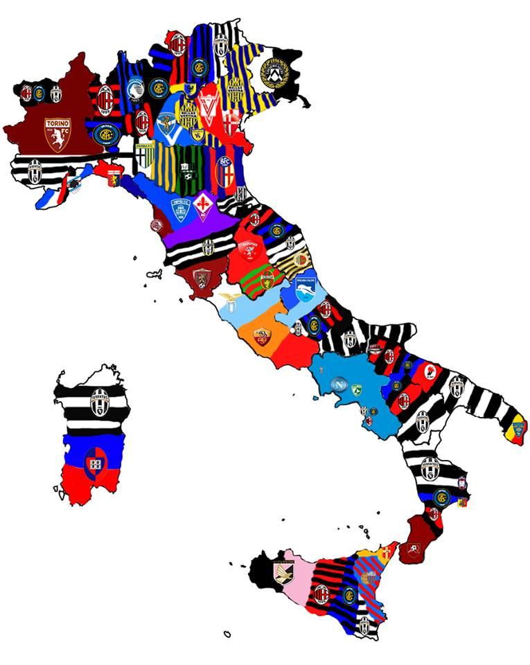 SSC NAPOLI ESPAA on Twitter FOTO I Mapa de Italia con los