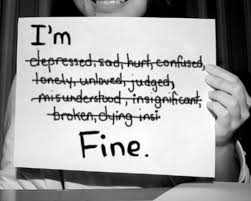 """All is not """"fine,"""" despite what you may hear. #BellLetsTalk http://t.co/h2C0pe0DUc"""