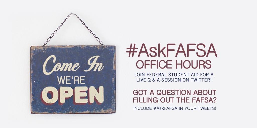 Thumbnail for January 2015 #AskFAFSA Office Hours: FAFSA Frenzy!