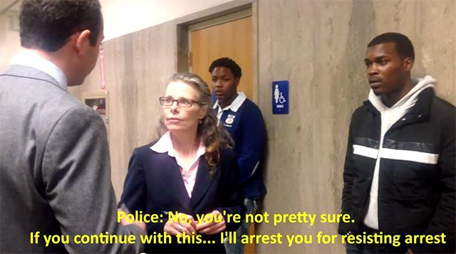 Video: Public defender getting arrested for trying to shield a client from questioning. http://t.co/6mk1NUUjUS http://t.co/AUyI0QjUTc