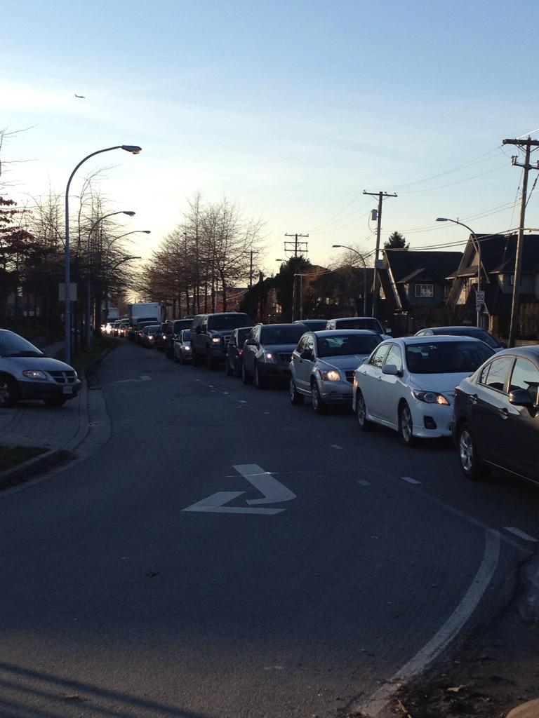 Steveston Highway eastbound at No 5 Road right now. Stay away. #RichmondBC #BellLetsTalk http://t.co/EhYXFAndxW