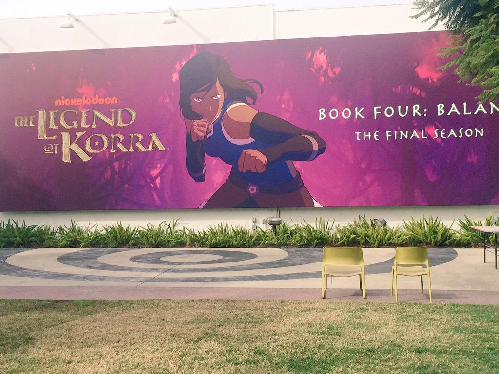 Was at @NickelodeonTV today & took this pic of the GIANT mural they have of #Korra book 4 #LOK #LegendofKorra #Always http://t.co/ZPZw6YqLxN