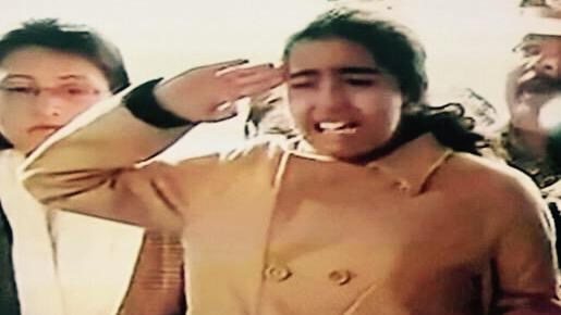 Numbed. No words. A weeping Alka, Colonel MN Rai's daughter shouts the 29 Gorkha war cry as she says goodbye. http://t.co/ASDEp5HjuD