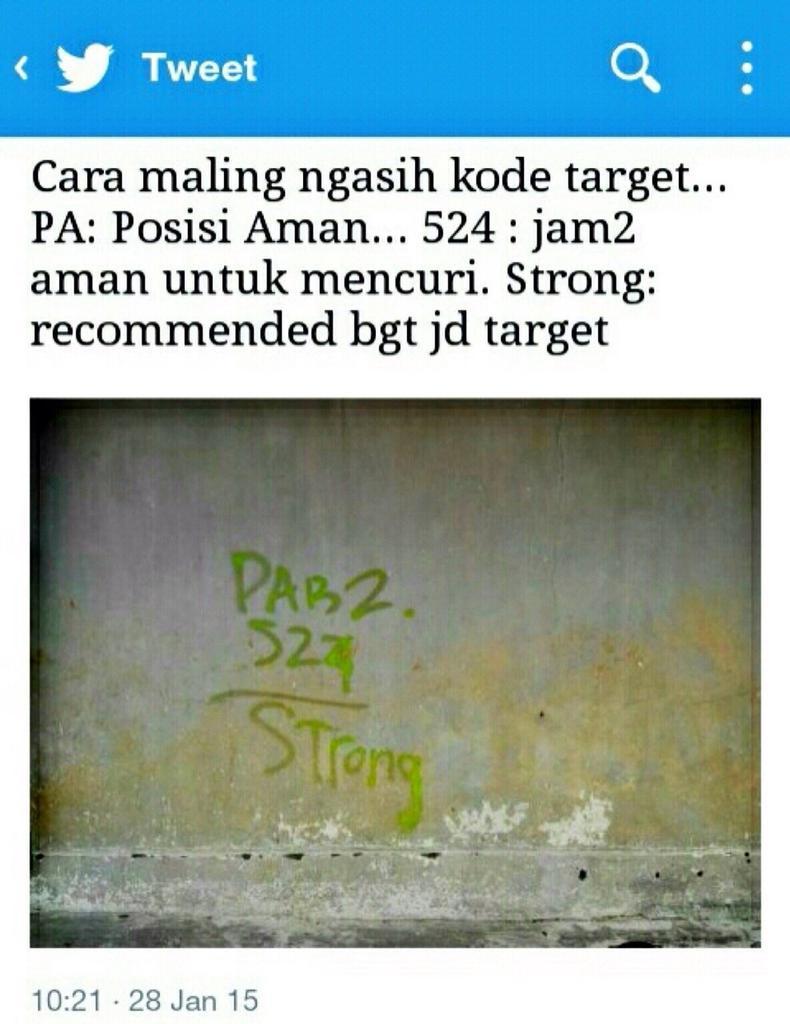 """Hati2 guys. Simbol2 """"strong"""" ini beneran ada apa2nya. Temen sy juga dapet tulisan ini di pagernya. http://t.co/8d8FhkIISz"""