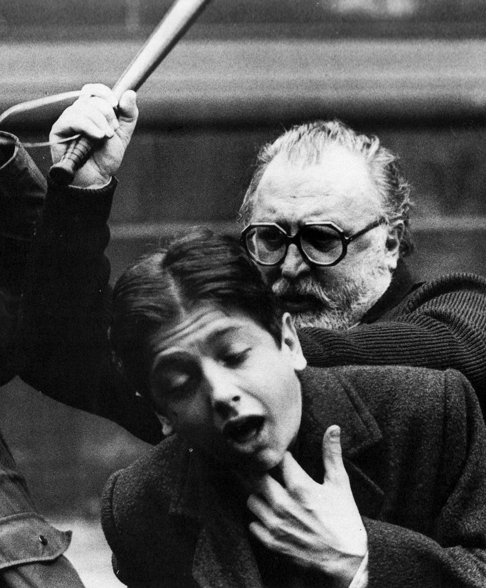 Film History In Pics On Twitter Sergio Leone Beating Scott Tiler On The Set Of Once Upon A Time In America 1982 Http T Co X7ntgyvrkg