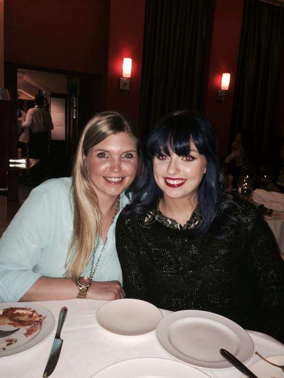 Great night @CentiniCalgary celebrating @imhrude birthday. With sister Jessica. @hrudfam #BellLetsTalk http://t.co/TX7DvcaW7E