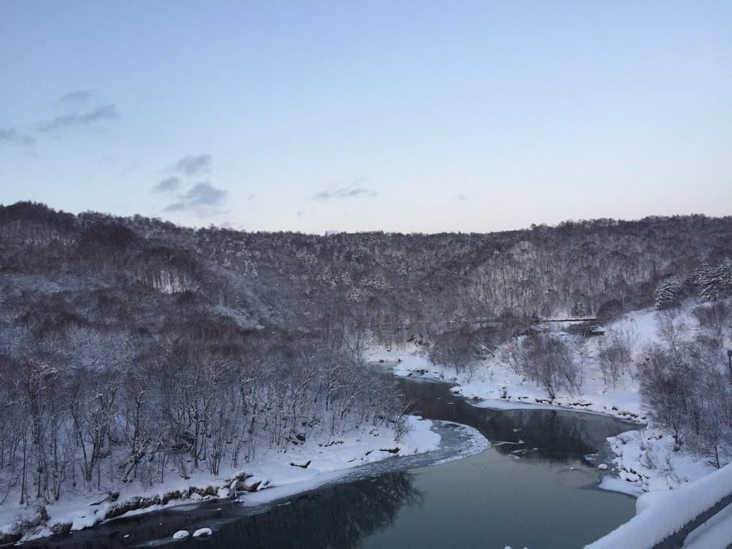 神居古潭の雪景色綺麗!#noriradi pic.twitter.com/9IgxCTIP7N
