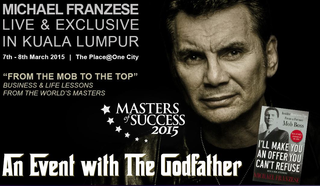 SPONSORED BY FLEXIROAM: Masters of Success event featuring The Godfather, @MichaelFranzese http://t.co/6ZnmLZaWFi