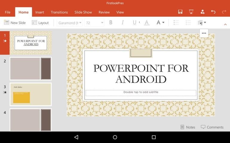 how to add pictures to powerpoint android