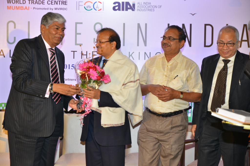 Interactive panel discussion on 'Smart Cities in India: Reality in the Making'  -WTC Mumbai, AIAI and @IFCCI1 http://t.co/0lwEcio4yk