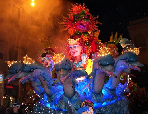 Sicily's most spectacular carnival starts tonight in Acireale and carries on for a fortnight