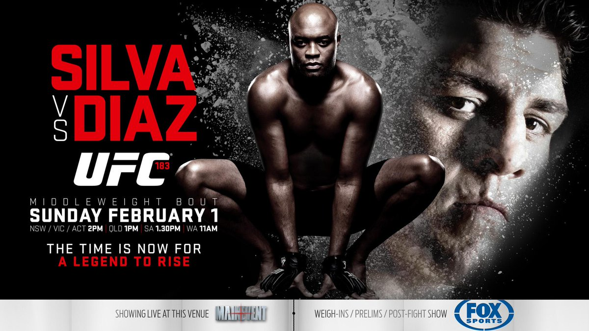 UFC 183 Las Vegas: Silva vs Diaz in diretta tv streaming su Fox Sport 2