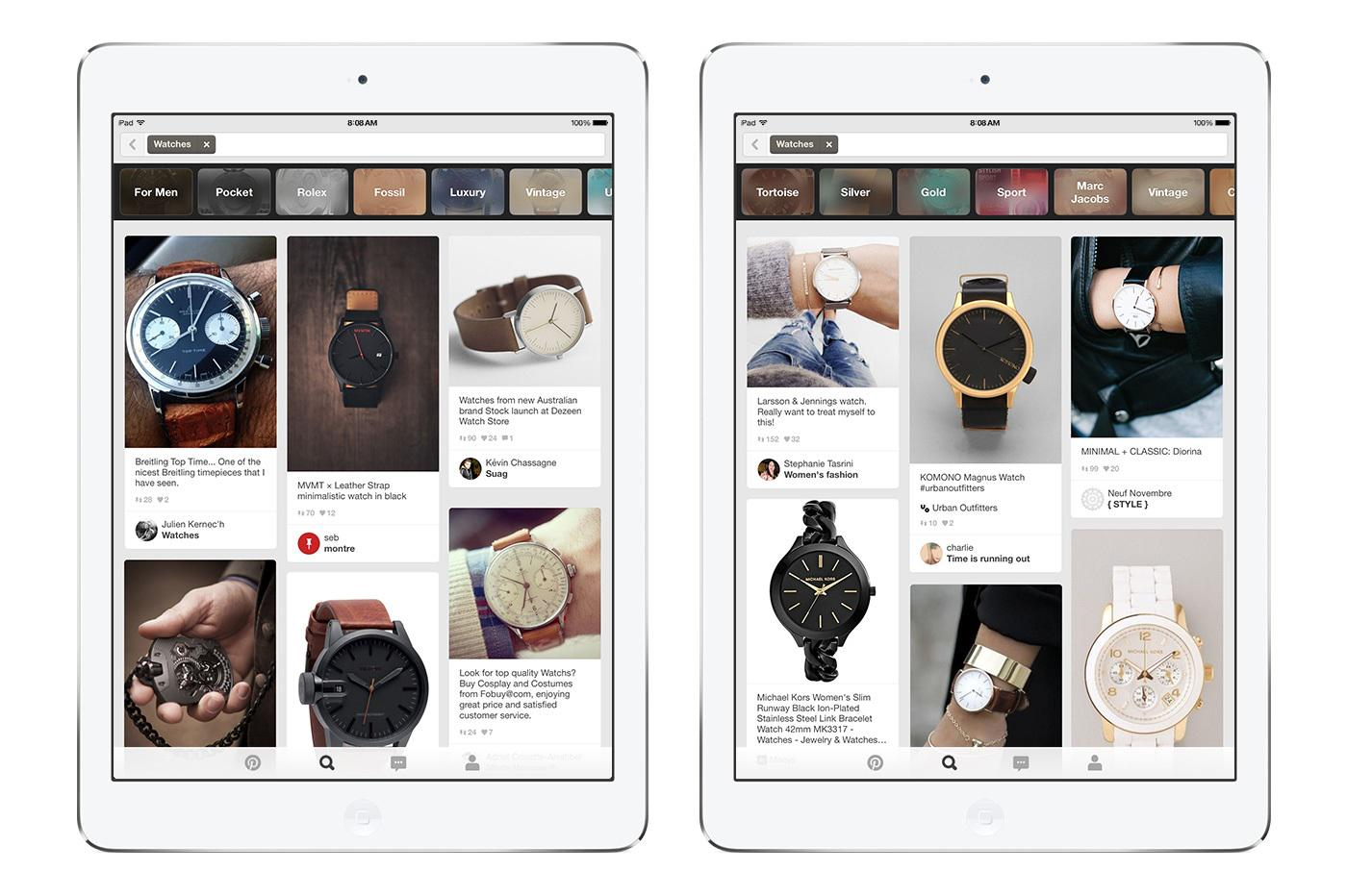 Pinterest woos men with more personalised search topics- http://t.co/Vl8VoNei1G http://t.co/1YUJfTiNDi