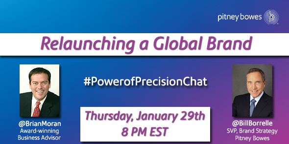 RT @PitneyBowes: Accuracy & precision. @BillBorrelle talks to @BrianMoran about @PitneyBowes new brand strategy. #PowerofPrecisionChat http…