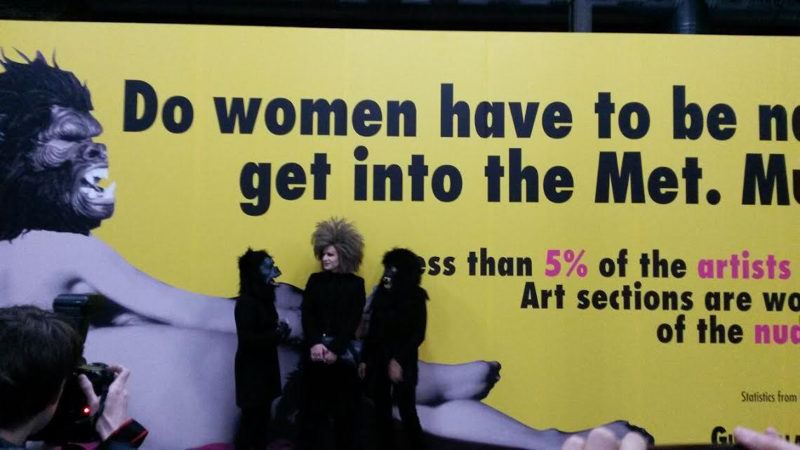 @mataderomadrid inaugura la exposición Guerrilla Girls producida por #alhondigabilbao. http://t.co/rVmgG95wpi