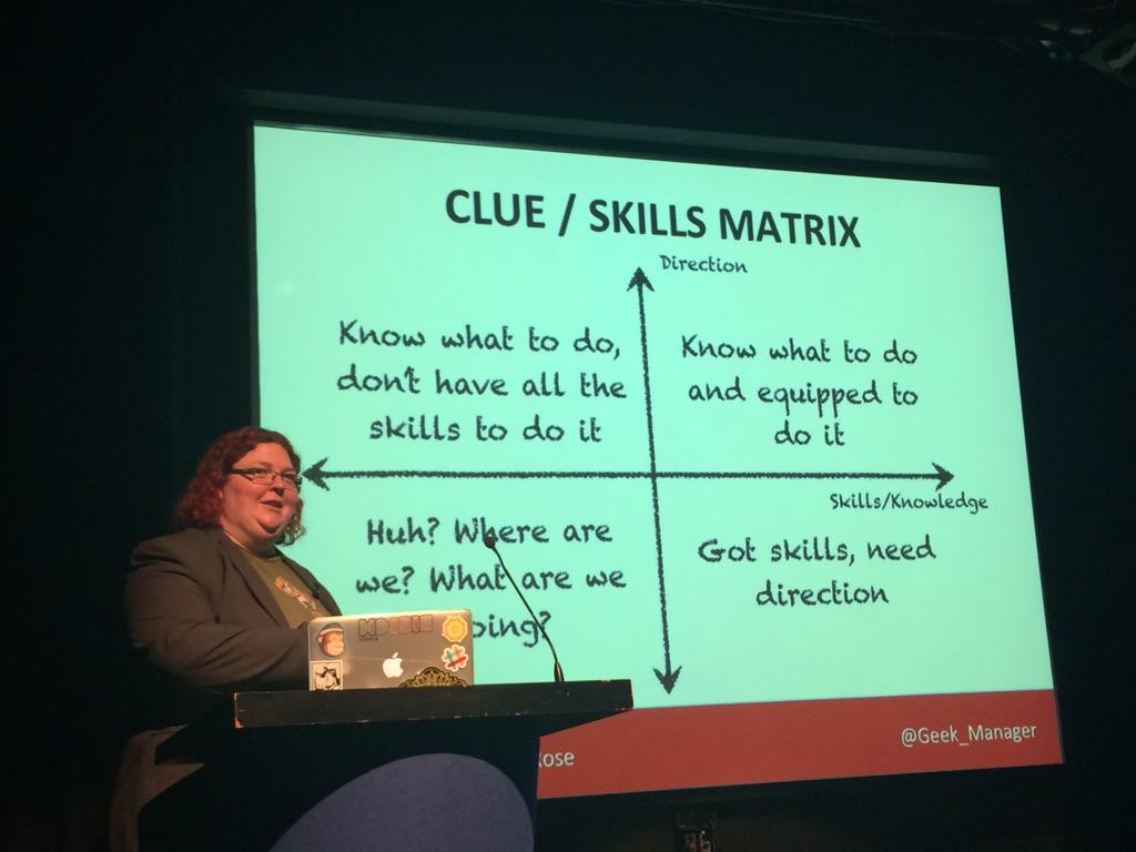 Great matrix from @Geek_Manager we all like to think we're in the top right #dpmuk15 http://t.co/biKGAcEv2j