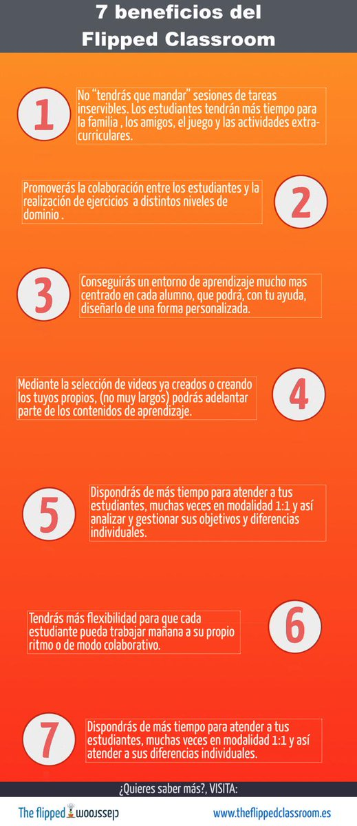 7 beneficios del Flipped Classroom http://t.co/Ss0EIbglgY