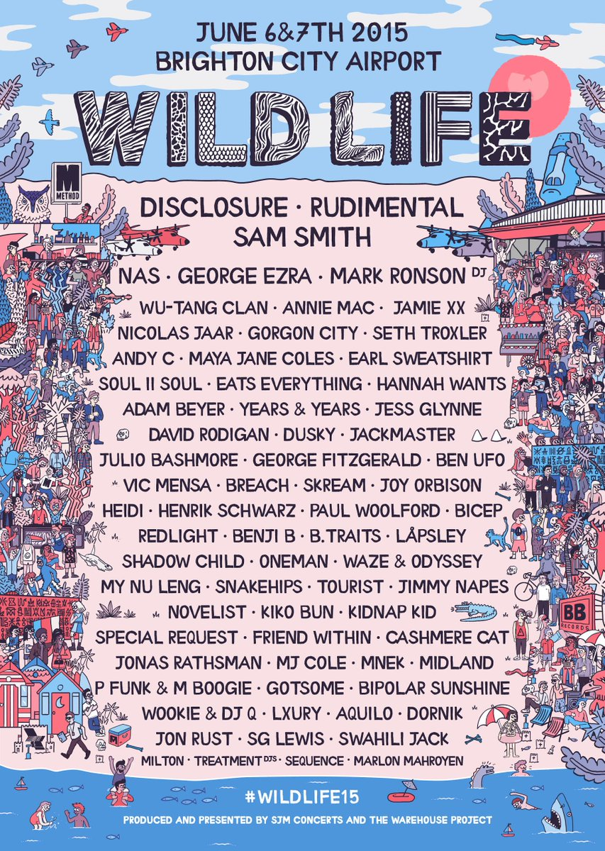 Summer starting nicely! 8| @Disclosure & @RudimentalUK hosting the first @WILD_LIFE_FEST in Brighton! #WILDLIFE15 http://t.co/TQleykm38a