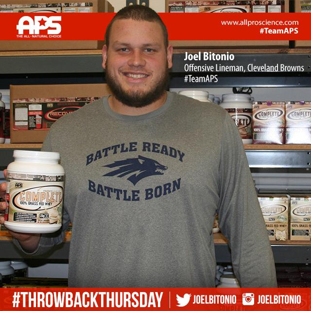 #TBT with a special #TeamAPS athlete & committed @officialbrowns prized #warrior, @JoelBitonio! Let's go #DawgPound! http://t.co/BiqOhWWWLX
