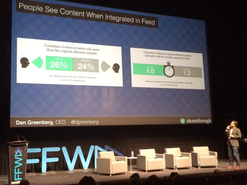 Our CEO @dgreenberg is discussing native ad engagement on stage @ #FFWD2015 advertising and marketing conf in Canada: http://t.co/wBDXvIa0C9