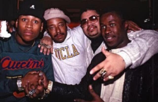 #TBT LL Cool J, me, Heavy D & Jalil at the Tougher Than Leather release party at the Palladium. I think lol. http://t.co/mk1dHIQBK9