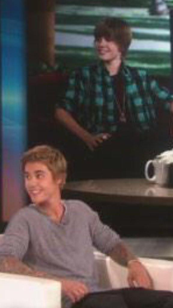 Same smile same heart same person!  #JustinOnEllen http://t.co/FtRwW4xrf6