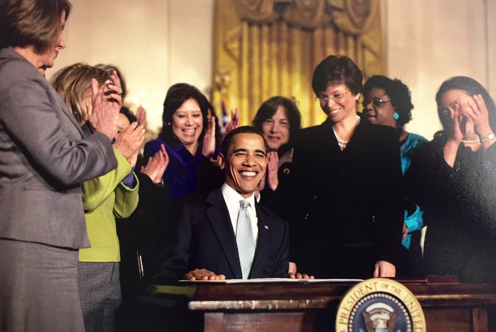 RT @vj44: 6 years ago, the first bill POTUS signed was the #LillyLedbetter Act.   Because when #womensucceed, America succeeds. http://t.co…