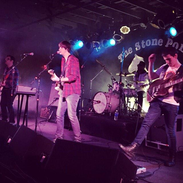 Here's TPM artist @TylerSarfert performing at @thestonepony for the #RocktotheTop finals! We're so proud of him!! http://t.co/lrf6W15e21
