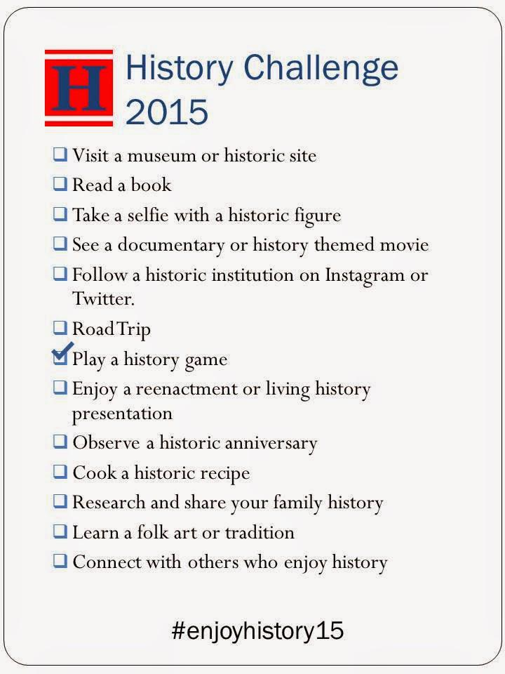 Are you taking the #EnjoyHistory15 Challenge? Join us for our all things history #tweetchat tonight at 7pmEST. http://t.co/oldsA9wlrC