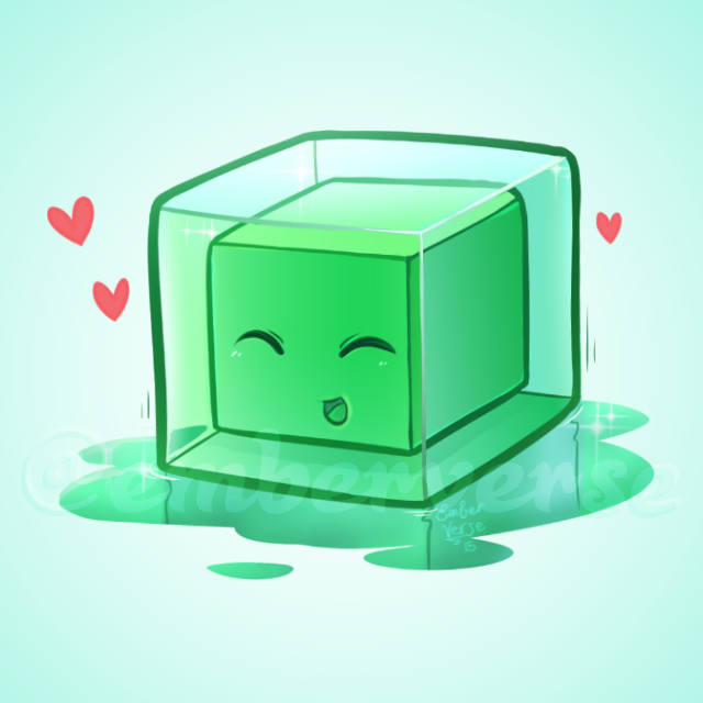 ember on twitter quoti wanted to draw a cute minecraft slime