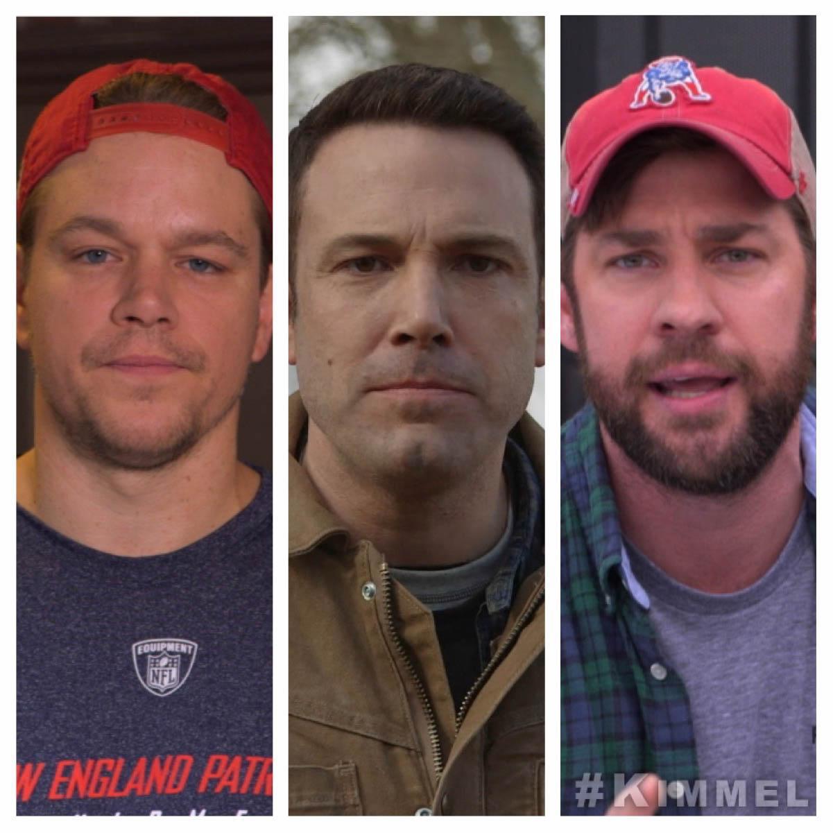 RT @JimmyKimmelLive: #MattDamon @BenAffleck @JohnKrasinski & more defend their beloved Tom Brady TONIGHT on #Kimmel. #DeflateGate #SB49 htt…