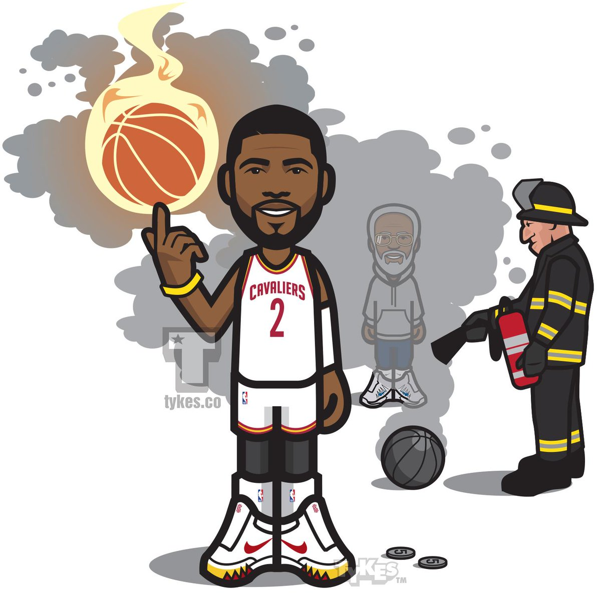 how to draw kyrie irving cartoon