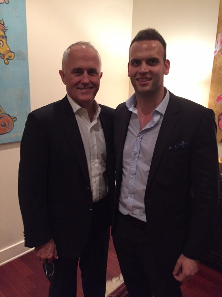 While it all hits the fan, Malcolm Turnbull is safely away in LA