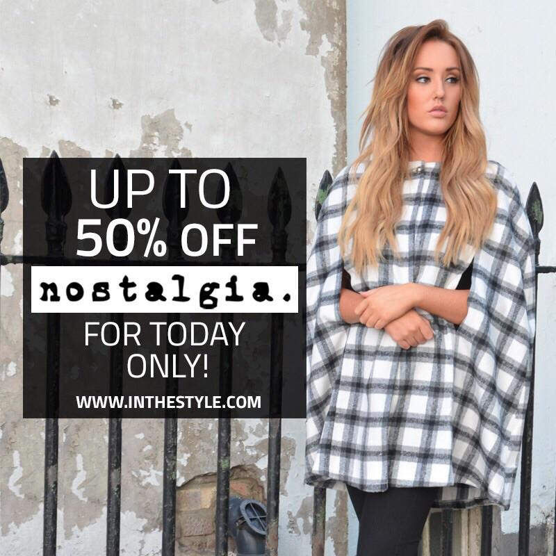 WOOHOO!! Some of my #nostalgia range is up to 50% off today! Plus dresses £10 here: http://t.co/2VjwcOWPWD http://t.co/FOdPdLlzps