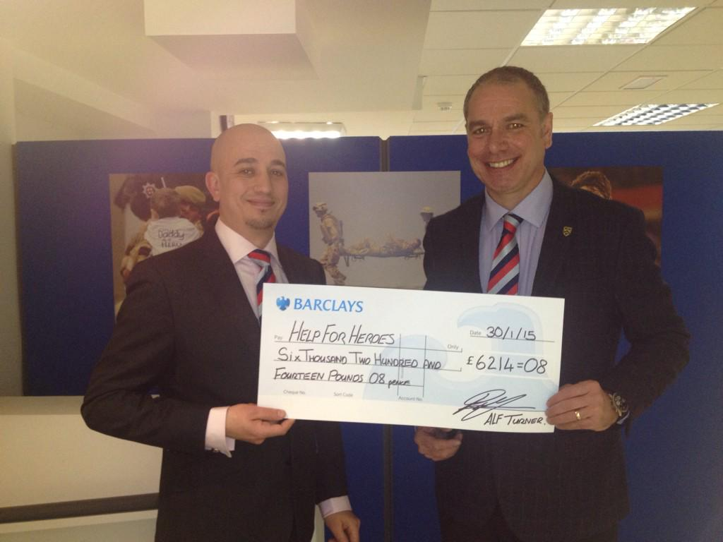 RT @Alf_Turner: Great pleasure in presenting @HelpforHeroes with this cheque ,thanks to all that helped especially @dragonjones http://t.co…