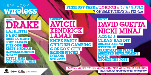 ! @Drake, co-headliners @Avicii & @KendrickLamar + @DavidGuetta & @NickiMinaj & more http://t.co/ffgESzYyMs #Wireless http://t.co/rspYWPk4qN