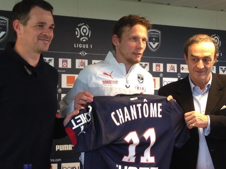 Un contrat d'un an et demi (+1 an en option) pour Chantôme !