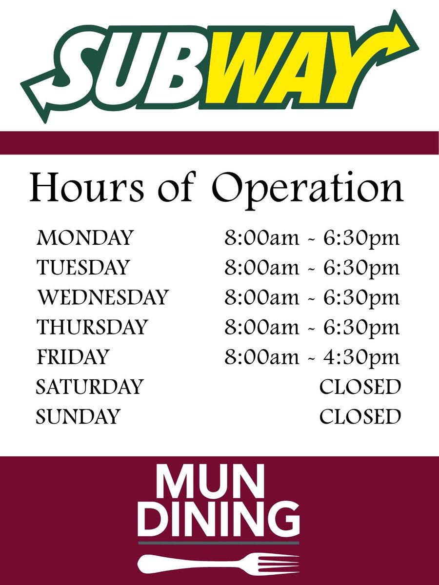 Subway Hours