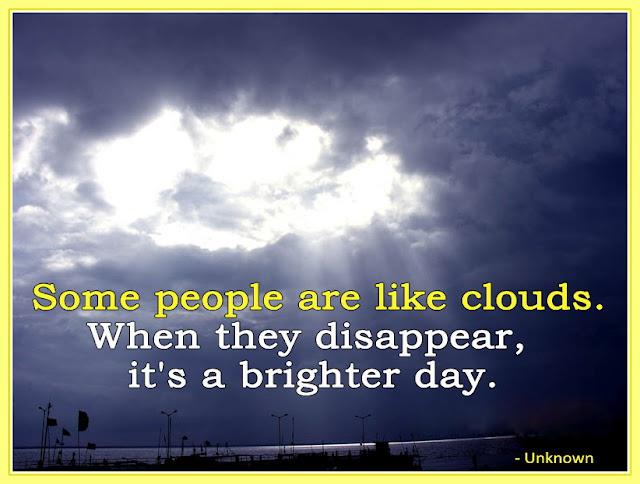 inspirational quotes on twitter some people are like clouds when