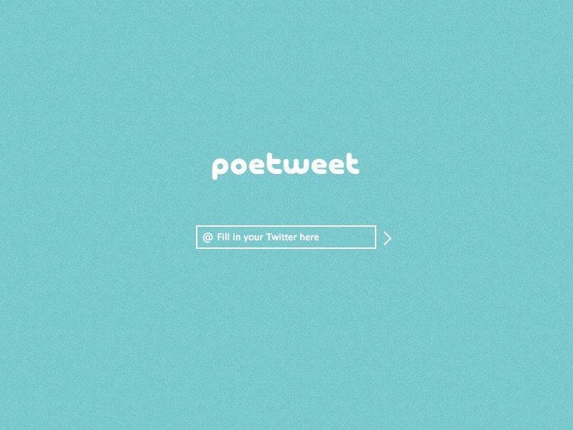 Il sito Poetweet genera automaticamente poesie usado i vostri tweets http://t.co/MnKmOzS0Mv #smm #twitter http://t.co/dd2a5tgYr9