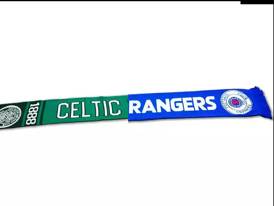 Image result for half celtic half rangers scarf
