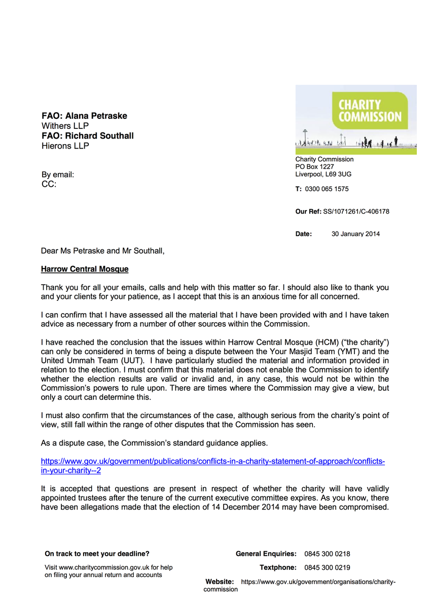 Living Masjid On Twitter See The Initial Letter From The Charity