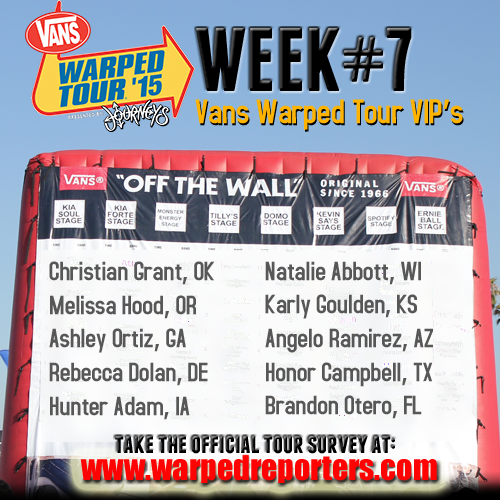Vans warped tour on twitter each week you could win a vip pass to 300 pm 30 jan 2015 m4hsunfo